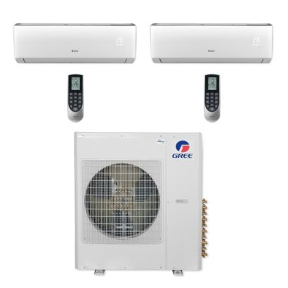 Gree MULTI42CVIR206 - 42,000 BTU Multi21+ Dual-Zone Wall Mount Mini Split Air Conditioner Heat Pump 208-230V (12-24)