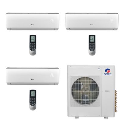 Gree MULTI42CVIR300 - 42,000 BTU Multi21+ Tri-Zone Wall Mount Mini Split Air Conditioner Heat Pump 208-230V (9-9-9)