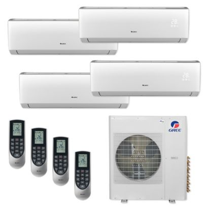 Gree MULTI42CVIR401 - 42,000 BTU Multi21+ Quad-Zone Wall Mount Mini Split Air Conditioner Heat Pump 208-230V (9-9-9-12)
