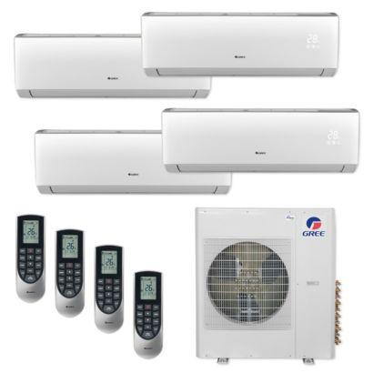 Gree MULTI42CVIR403 - 42,000 BTU Multi21+ Quad-Zone Wall Mount Mini Split Air Conditioner Heat Pump 208-230V (9-9-12-12)
