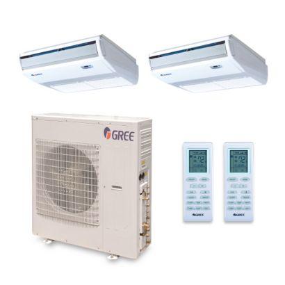 Gree MULTI42HP258 - 42,000 BTU +Multi Dual-Zone Floor/Ceiling Mini Split Air Conditioner Heat Pump 208-230V (18-24)