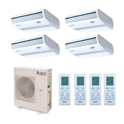 Gree MULTI42BCONS405 - 42,000 BTU +Multi Quad-Zone Floor Console Mini Split Air Conditioner Heat Pump 208-230V (9-12-12-12)