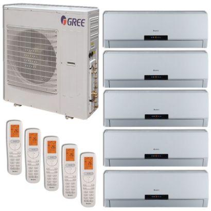 Gree MULTI42HP502 - 42,000 BTU +Multi Penta-Zone Wall Mount Mini Split Air Conditioner Heat Pump 208-230V (9-9-9-9-18)