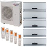 Gree MULTI42HP506 - 42,000 BTU +Multi Penta-Zone Wall Mount Mini Split Air Conditioner Heat Pump 208-230V (9-9-12-12-12)