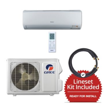 Gree RIO09115-143835 - 9,000 BTU 16 SEER Wall Mount Mini Split Air Conditioner Heat Pump 115V & 35' Line Set Kit