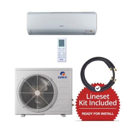 Gree RIO09230-143835 - 9,000 BTU 16 SEER Wall Mount Mini Split Air Conditioner Heat Pump 208-230V & 35' Line Set Kit