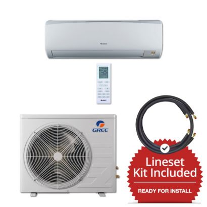 Gree RIO09230-143850 - 9,000 BTU 16 SEER Wall Mount Mini Split Air Conditioner Heat Pump 208-230V & 50' Line Set Kit