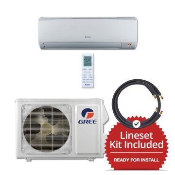 Gree RIO12115-143825 - 12,000 BTU 16 SEER Wall Mounted Mini Split Air Conditioner with Heat Pump 115V & 25' Line Set Kit