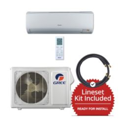 Gree RIO12115-143825 - 12,000 BTU 16 SEER Wall Mount Mini Split Air Conditioner Heat Pump 115V & 25' Line Set Kit