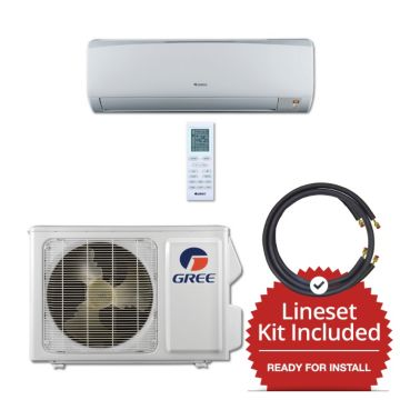 Gree RIO12115-143835 - 12,000 BTU 16 SEER Wall Mount Mini Split Air Conditioner Heat Pump 115V & 35' Line Set Kit