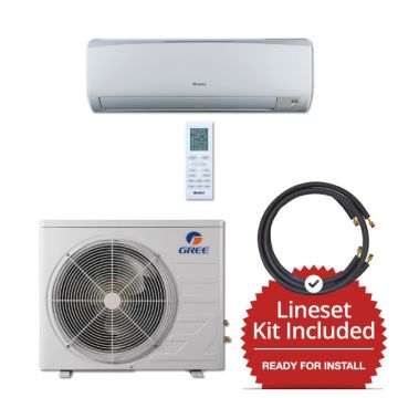 Gree RIO12230-143815 - 12,000 BTU 16 SEER Wall Mount Mini Split Air Conditioner Heat Pump 208-230V & 15' Line Set Kit