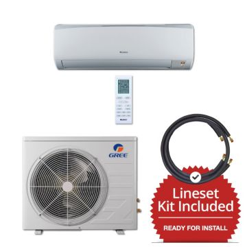 Gree RIO12230-143835 - 12,000 BTU 16 SEER Wall Mount Mini Split Air Conditioner Heat Pump 208-230V & 35' Line Set