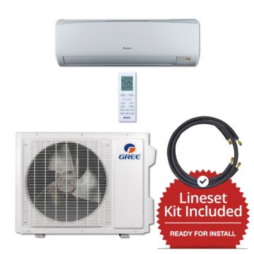 Gree RIO18230-141215 - 18,000 BTU 16 SEER Wall Mounted Mini Split Air Conditioner with Heat Pump 220V & 15' Line Set Kit