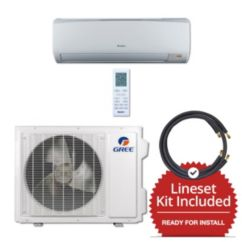 Gree RIO18230-141215 - 18,000 BTU 16 SEER Wall Mount Mini Split Air Conditioner Heat Pump 208-230V & 15' Line Set Kit