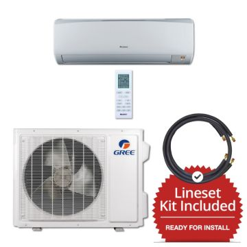 Gree RIO18230-141250 - 18,000 BTU 16 SEER Wall Mounted Mini Split Air Conditioner with Heat Pump 220V & 50' Line Set Kit