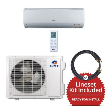 Gree RIO24230-141215 - 24,000 BTU 16 SEER Wall Mount Mini Split Air Conditioner Heat Pump 208-230V & 15' Line Set Kit