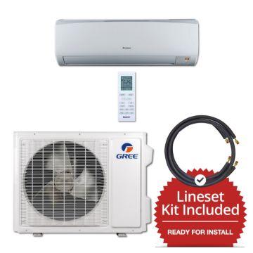 Gree RIO24230-141275 - 24,000 BTU 16 SEER Wall Mounted Mini Split Air Conditioner with Heat Pump 220V & 75' Line Set Kit