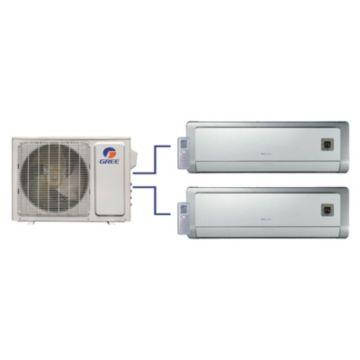 GREE Evo+ Dual-Zone Ductless Mini-Split System 18,000 BTU Inverter Heat Pump (9k, 9k Indoor)