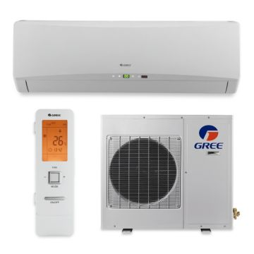 Gree TERRA09HP230V1A - 9,000 BTU 27 SEER TERRA Wall Mounted Ductless Mini Split Air Conditioner with Heat Pump 220V