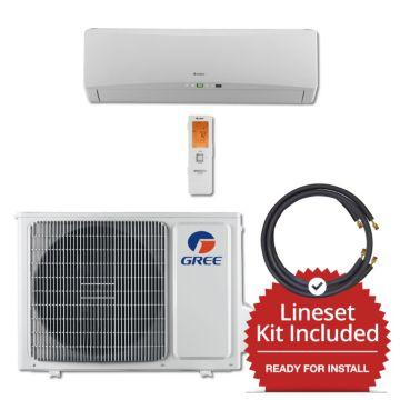 Gree TERRA12230-141215 - 12,000 BTU 25 SEER Wall Mount Mini Split Air Conditioner Heat Pump 208-230V & 15' Line Set