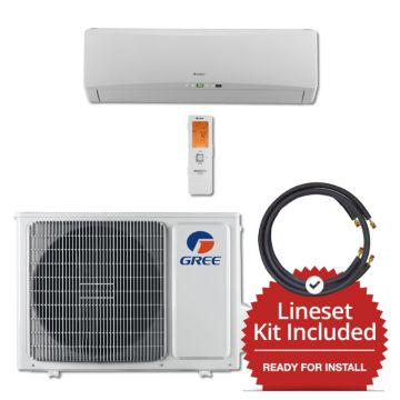 Gree TERRA12230-141225 - 12,000 BTU 25 SEER Wall Mounted Mini Split Air Conditioner with Heat Pump 220V & 25' Line Set