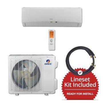 Gree TERRA18230-145815 - 18,000 BTU 21 SEER Wall Mount Mini Split Air Conditioner Heat Pump 208-230V & 15' Line Set