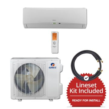 Gree TERRA18230-145850 - 18,000 BTU 21 SEER Wall Mount Mini Split Air Conditioner Heat Pump 208-230V & 50' Line Set