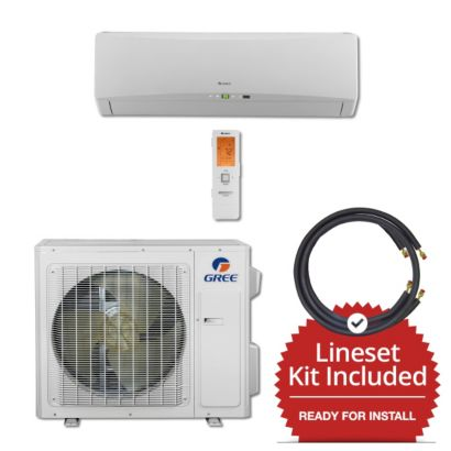 Gree TERRA24230-145835 - 24,000 BTU 21 SEER Wall Mount Mini Split Air Conditioner Heat Pump 208-230V & 35' Line Set