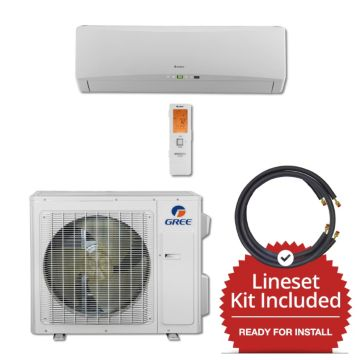 Gree TERRA24230-145850 - 24,000 BTU 21 SEER Wall Mount Mini Split Air Conditioner Heat Pump 208-230V & 50' Line Set