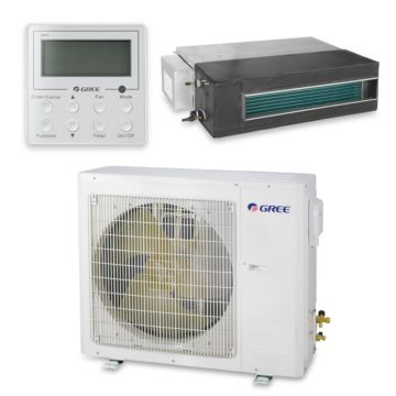 Gree UMAT18HP230V1AD-S - 17,100 BTU 16 SEER Concealed Duct Mini Split Air Conditioner with Heat Pump 220V