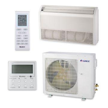 Gree UMAT24HP230V1AF-S - 23,800 BTU 16 SEER Floor Ceiling Ductless Mini Split Air Conditioner with Heat Pump 220V