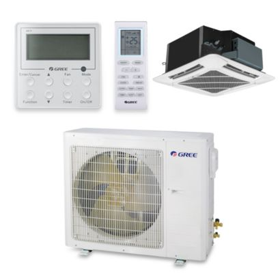 Gree UMAT36HP230V1AC-S - 34,000 BTU 16 SEER Ceiling Cassette Ductless Mini Split Air Conditioner Heat Pump 208-230V