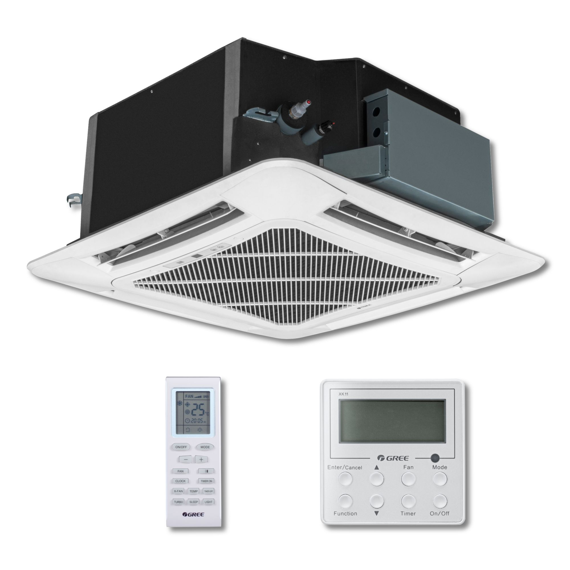 Ductless Ceiling Cassette Mini Split Air Conditioner