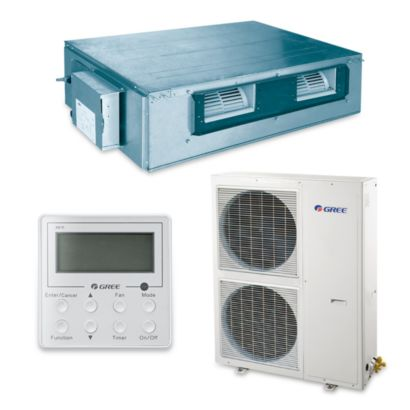 Gree UMAT42HP230V1AD-S - 39,500 BTU 16 SEER Concealed Duct Mini Split Air Conditioner Heat Pump 208-230V