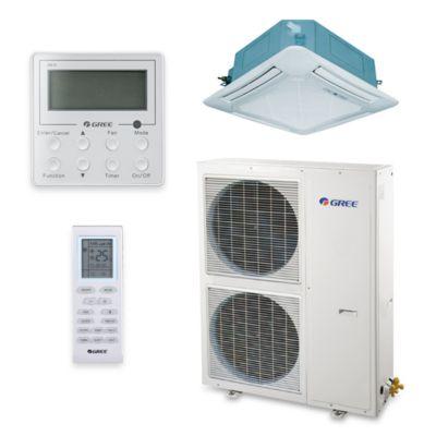 Gree UMAT48HP230V1AC S   48,000 BTU 16 SEER Ceiling Cassette Ductless Mini  Split Air Conditioner Heat Pump 208 230V