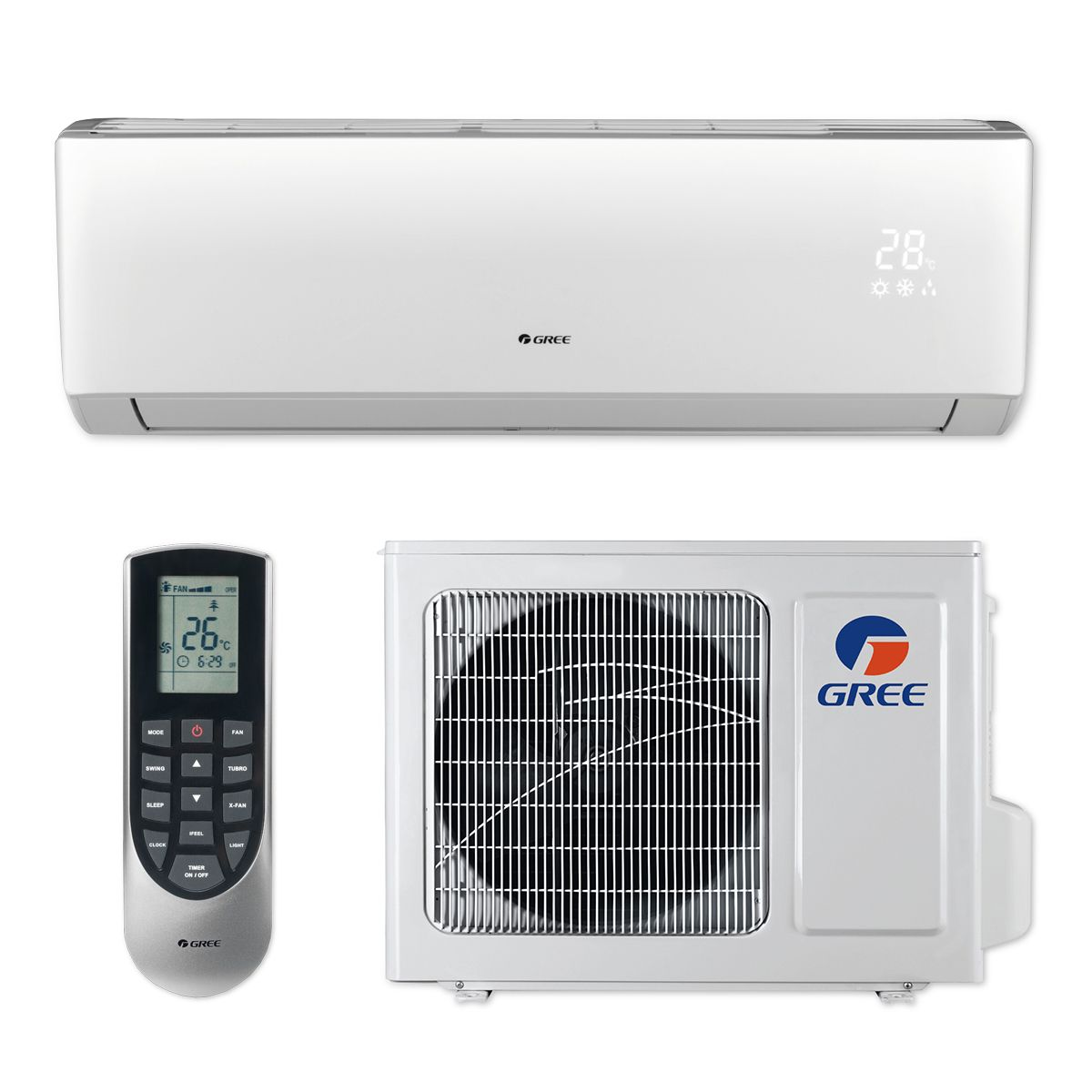 Gree VIR09HP115V1B - 9,000 BTU 23 SEER VIREO+ Wall Mount Ductless Mini Split Air Conditioner Heat Pump 115V