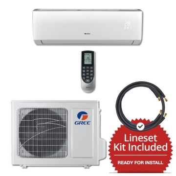 Gree VIR12115-141250 - 12,000 BTU 22 SEER Wall Mount Mini Split Air Conditioner Heat Pump 115V & 50' Line Set