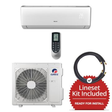 Gree VIR18230-145815 - 18,000 BTU 20 SEER Wall Mount Mini Split Air Conditioner Heat Pump 208-230V & 15' Line Set