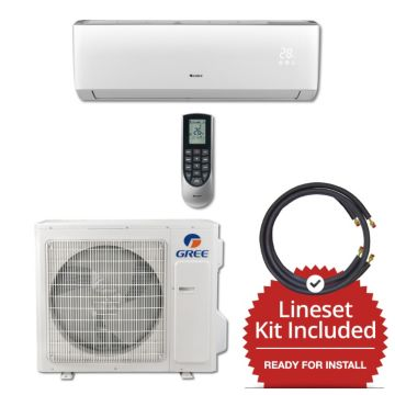 Gree VIR30230-145815 - 30,000 BTU 18 SEER Wall Mounted Mini Split Air Conditioner with Heat Pump 220V & 15' Line Set