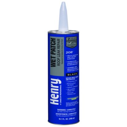 Henry HE208004 - Wet Patch Roof Cement, Black, 11 Oz Tube