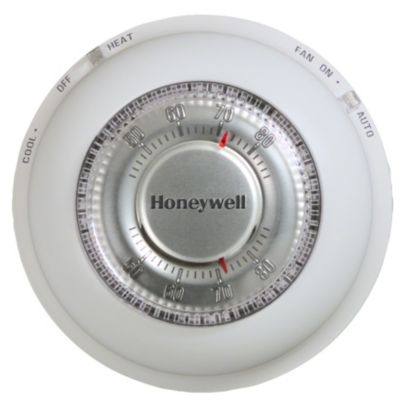 Honeywell T87N1000 - Round manual thermostat for heat/cool Control