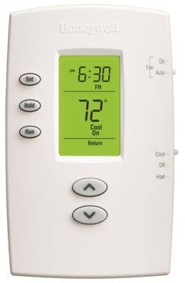 Honeywell TH2110DV1008/U - PRO 2000 Vertical Programmable Thermostat, 1Heat/1Cool