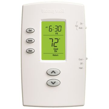 Honeywell TH2110DV1008 - Pro 2000 Programmable Vertical Thermostat, 1Heat/1Cool