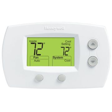 Honeywell TH5220D1029 - Non-programmable, hard-wired digital thermostat for heat pump, conventional
