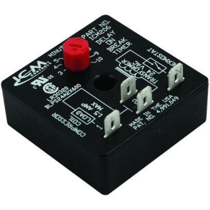 ICM Controls ICM206 - Delay-on-Break Timer, 4-terminal with 10-minute fixed delay, 18-30 VAC