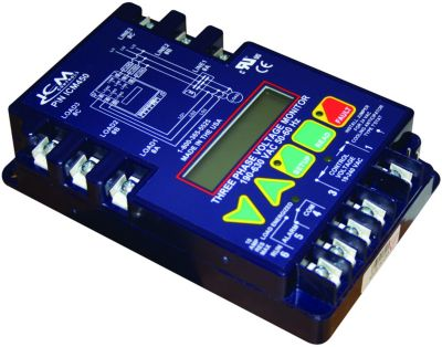ICM Controls ICM450C - 3-Phase Monitor, 25-Fault Memory, LCD Setup and Diagnostics, Fault Identification