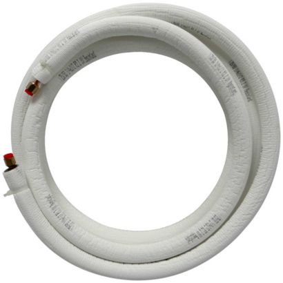 "JMF LS1438FF15W-WHITE - 15' EZ-Pull Mini Split Ready Connect Line Set: 1/4"" Liquid, 3/8"" Suction, 14-4 Connect Wire"