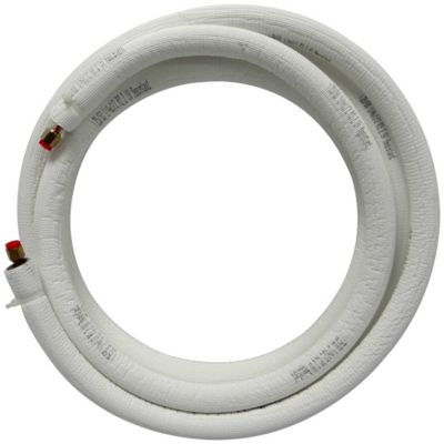 "JMF LS1438FF50W-WHITE - 50' EZ-Pull Mini Split Ready Connect Line Set: 1/4"" Liquid, 3/8"" Suction, 14-4 Connect Wire"