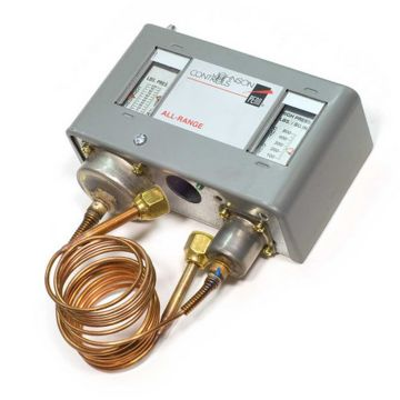Johnson Controls P70LB-1C - Single Pole Dual Pressure All Range Control