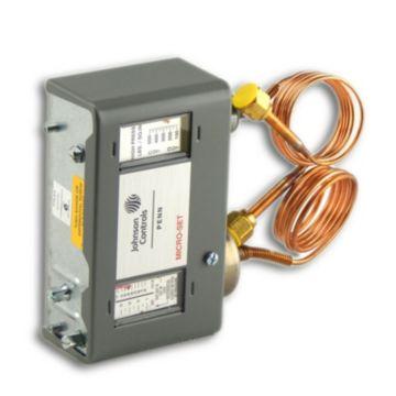 "Johnson Controls P70LB-6C - Spst Dual Pressure Control; 20""/80 PSIG LS 13 36"" Range 100/425 PSIG HS; W/Knob;"